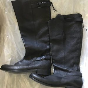 J. Crew Pebbled Leather Knee High boots  8 black